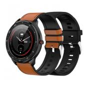 Smartwatch Full Touch 2 bands Marron/silicona negro DCU